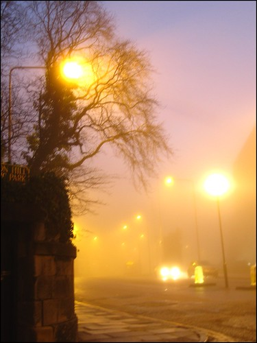 edinburgh in the fog