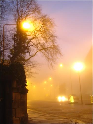 edinburgh in the fog