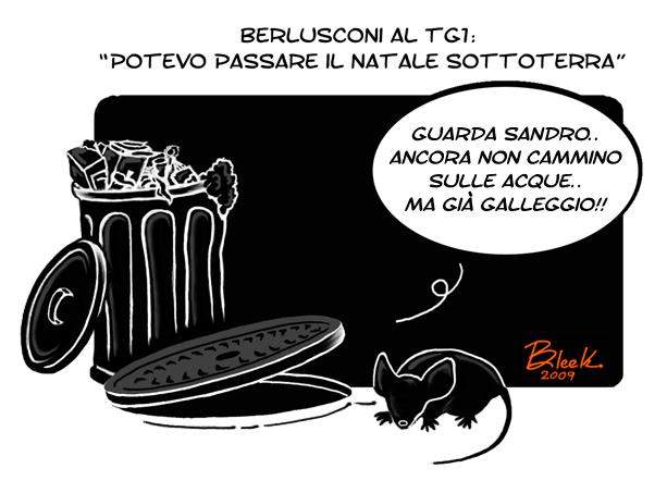Natale  Berlusconi sottoterra