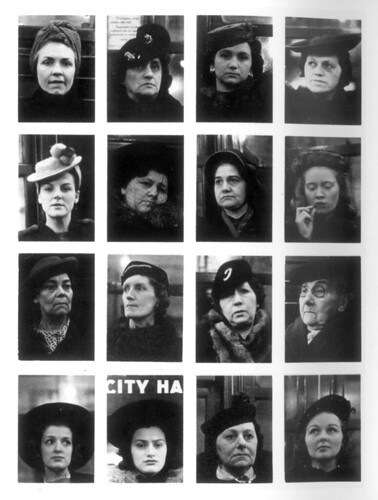 Walker Evans, Subway Portrait: Sixteen Women, New York, USA, 1938-41.