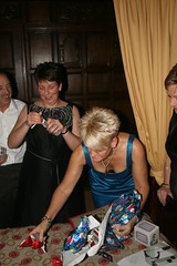 2009 Inglewood Manor ( SimonPix) Tags: christmas our party candid secret bra presents opening cleavage manor inglewood the downblouse sanata
