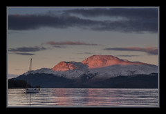 Sunset at Luss (Alan Runcie) Tags: snow lomond luss