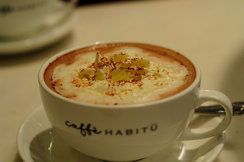 White Truffle Cream Hot Chocolate @ Caffe Habitu