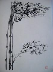 Backed Windblown Bamboo