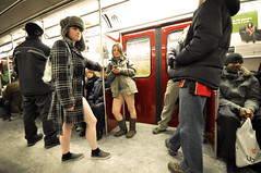 No Pants Subway Ride 2010 (Paul Flynn (Toronto)) Tags: city toronto panties subway boxers underwear ttc to improv undies gta nopants pantless 2010 improvintoronto