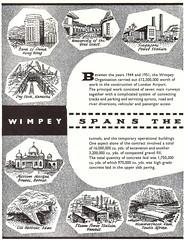 "Wimpey spans the world"" - advert for George Wimpey, builders, London - 1956 (mikeyashworth) Tags: wimpey georgewimpey wimpeybuilders advert 1956 singapore universityofthegoldcoast goldcoast ghana universityofghana hongkong bankofchina karachi pakistan sultanomaralisaifuddinmosque brunei borneo bandarseribegawan aden kuwait wemmershoekdam southafrica mikeashworthcollection"