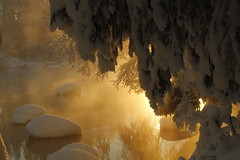 Kapeenkoski Rapids 0045 (FarmerJohnn) Tags: winter suomi finland frost rapids wonderland talvi laukaa koski kuura kapeenkoski canoneos7d