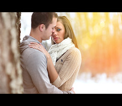 Warm Winter Romance (~Phamster~) Tags: park winter wedding snow tree love forest scarf canon engagement romance ring tones llens 85l 5dmkii
