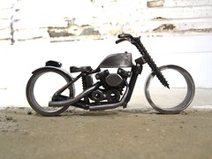 Metal motorcycle sculpture Harley Davidson flat track bike
