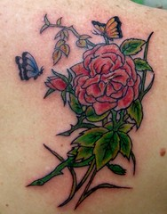 pretty (Billy Whaley Tattoo) Tags: new woman flower color rose tattoo ink butterfly stars pretty lotus kentucky indiana peony albany billy louisville girlie lillie asgard whaley