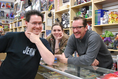 With Amy and alternate-reality Paul, Wednesdays staff at House of Secrets. Not pictured, Erik.