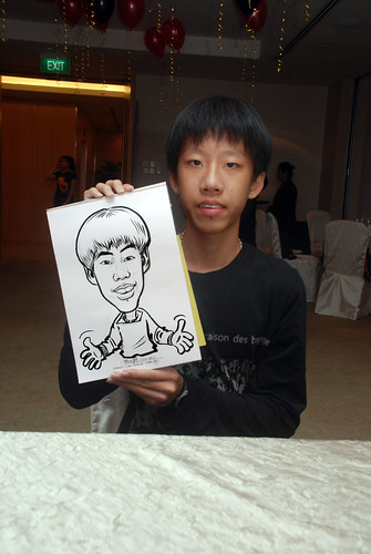 caricature live sketching for birthday party 220110 - 7
