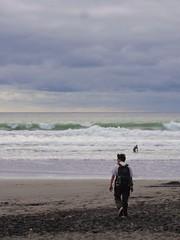 Nico sur la plage de NP