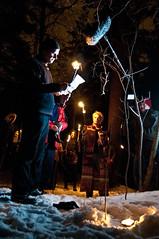 Pagans on TV 1 (Lars Leganger) Tags: winter snow vinter mythology snø sn nrk norse kalvøya blot kalv sn¿ kalv¿ya d300s satru åsatru vinterblot blót annekathærland
