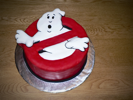ghost buster cake fondant carved birthday