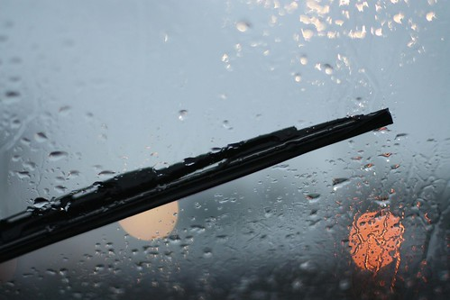 rain on the windshield