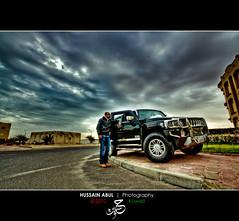 H3 - HDR (iHussain Abul) Tags: 3 car h3 kuwait 1020mm hdr aziz hussain    abul