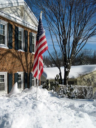 Old Glory Snowed In