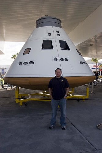 Jose in front of the now-defunct Orion