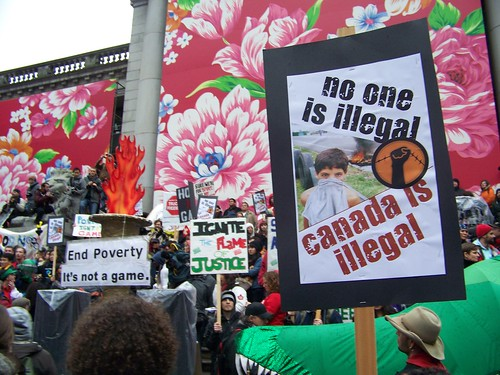 Vancouver protest politics no one is illegal canada