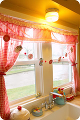 My Retro valentine's Kitchen (ittybittybirdy) Tags: cats window kitchen kids festive holidays sink kittens garland retro gingham vday curtains decor pompoms tutorial valentinesday craftproject vintagecards digitalkit gnomenbirdy