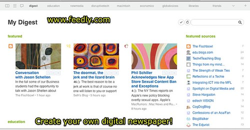 Feedly - a custom digital newspaper