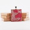 Pink Butterflies - Recycled Scrabble Tile Pendant