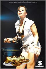 Michelle vocalista de Washington Brasileiro