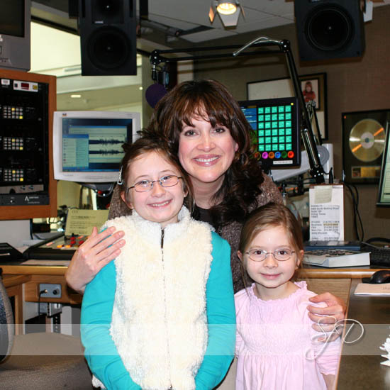 my girls @ local radio station tour