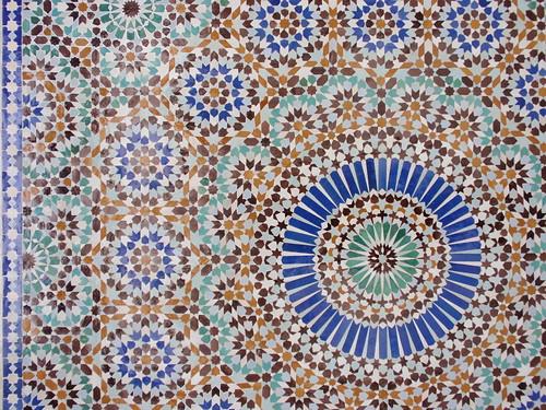Paris Mosque tiles