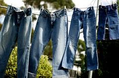 Jeanerations (PhotoQueen001) Tags: blue bluesky clothes jeans denim clothesline bluejeans generations pegs washing washingline bluejean