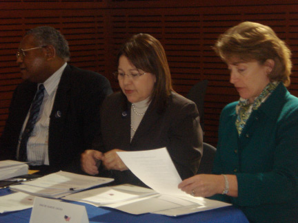 Left to right: Lawrence McCullough, Arkansas State Director, Tammye Trevino, USDA Administrator for Housing and Community Facilities and Chairman of the U.S. Senate Agriculture, Nutrition and Forestry Committee, U.S. Sen. Blanche Lincoln.