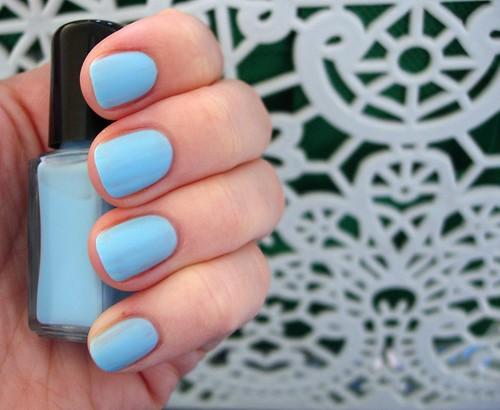 Mattified M&S Pastel Blue Nail Varnish