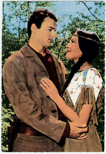Karin Dor and Mario Girotti (Terence Hill) in Winnetou II