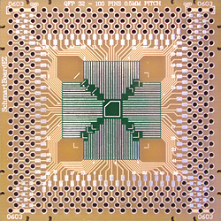 SchmartBoard - 202-0011-01 - QFP 32-100 Pins 0.5mm Pitch 2in X 2in Grid EZ Version