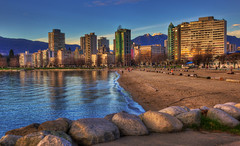 Vancouver West End - English Bay at Sunset