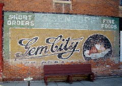 OH, Tipp City-OH 571 Gem City Ice Cream Wall Advertising Sign