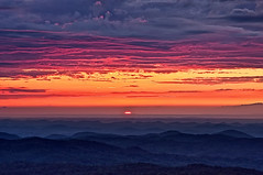 Saying Goodnight (Pheno Me Non) Tags: sunset sky sun clouds nikon tennessee northcarolina nationalparks blueridgemountains tellico cherohalaskyway d90 purplehues unicoimountains appalachianmountainrange cherokeenationalpark