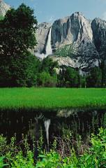 Yosemite Falls Reflection (manfrotto tripods) Tags: california wedding usa canon equipment workshop yosemite heads tripods manfrotto samys danwarsinger