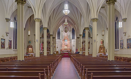 Saint Agatha Roman Catholic Church, in Saint Louis, Missouri, USA - nave