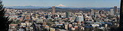 Downtown Portland from Northwest Hills (Sekkle) Tags: city panorama skyline oregon skyscraper portland pano panoramic mthood 32