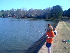 Friday fishing at the pond