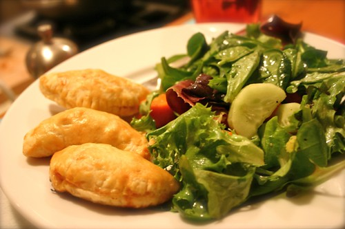 Empanadas and salad is what's for dinner