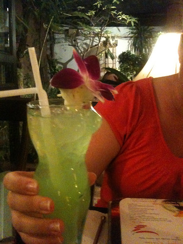 Mel's boob cocktail at the Mango Tree