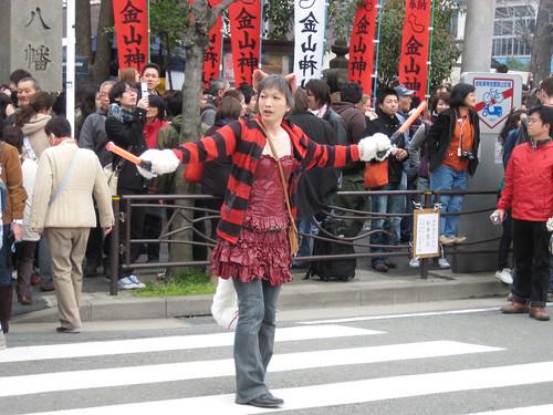 交通整理@かなまら祭り