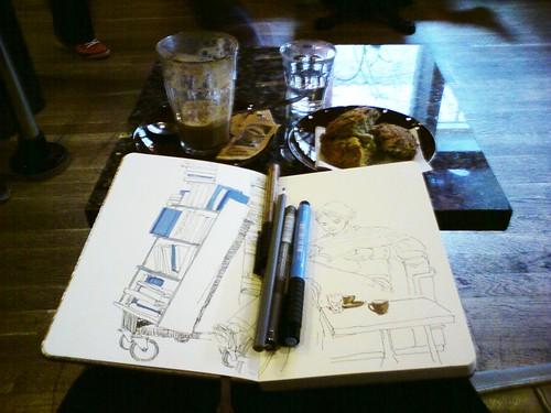 sketchbreak at sigfred's kaffebar