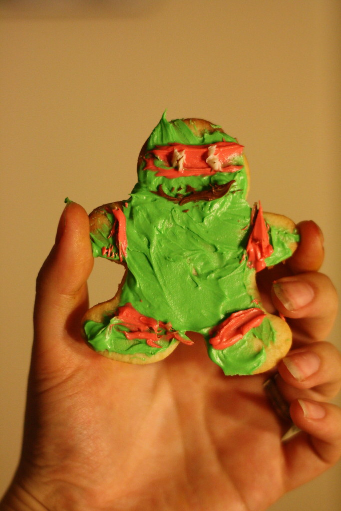 ninja turtle sugar cookie
