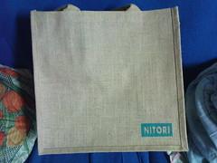 這是贈送的宜得利家居購物袋