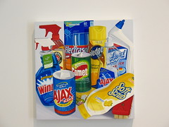 Jessica Rohrer painting: household cleaning supplies