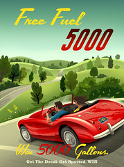 Sunoco poster (Crampton Illustration) Tags: travel illustration sportscar retroposter retroillustration carposter michaelcrampton